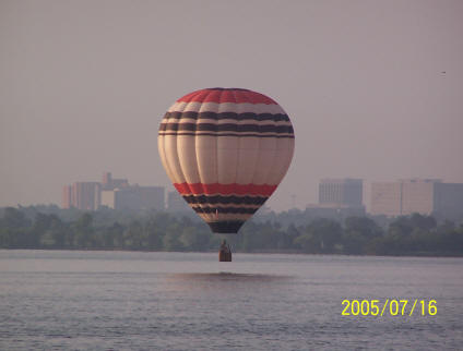 Hot Air Balloon Flight Over Lake Hefner